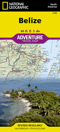 Buy map Belize AdventureMap by National Geographic Maps