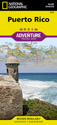 Buy map Puerto Rico Adventure Map 3107 by National Geographic Maps