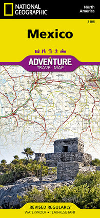 Buy map Mexico Adventure Map 3108 by National Geographic Maps