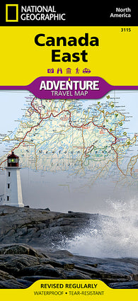 Buy map Canada, East Adventure Map 3115 by National Geographic Maps