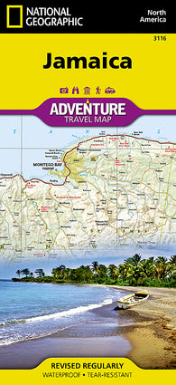 Buy map Jamaica Adventure Map 3116 by National Geographic Maps