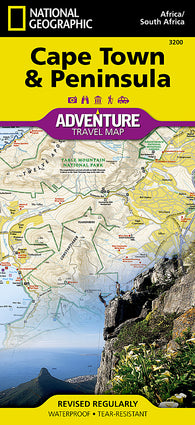 Buy map Cape Town and Peninsula, South Africa AdventureMap by National Geographic Maps