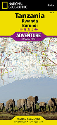Buy map Tanzania, Rwanda, and Burundi Adventure Map 3206 by National Geographic Maps