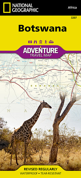 Buy map Botswana Adventure Map 3207 by National Geographic Maps
