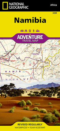 Buy map Namibia Adventure Map 3209 by National Geographic Maps