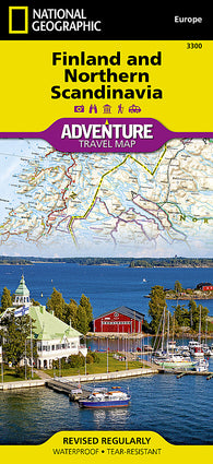 Buy map Finland and Northern Scandinavia Adventure Map 3300 by National Geographic Maps