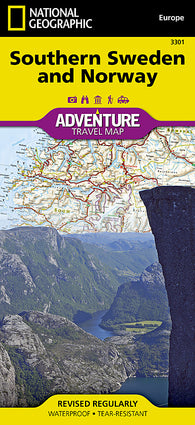 Buy map Sweden, Southern, and Norway Adventure Map 3301 by National Geographic Maps