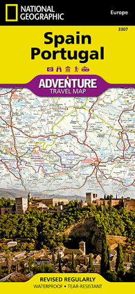 Buy map Spain and Portugal Adventure Map 3307 by National Geographic Maps