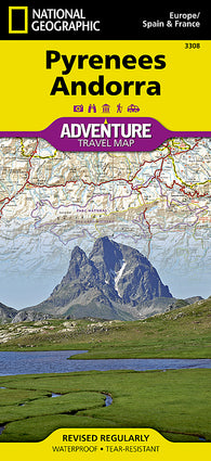 Buy map Pyrenees and Andorra Adventure Map 3308 by National Geographic Maps