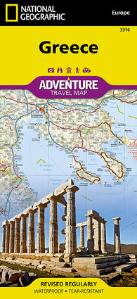 Buy map Greece Adventure Map 3316 by National Geographic Maps