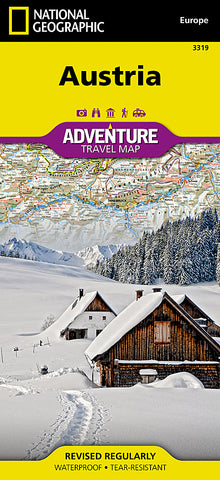 Buy map Austria Adventure Map 3319 by National Geographic Maps