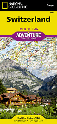 Buy map Switzerland Adventure Map 3320 by National Geographic Maps