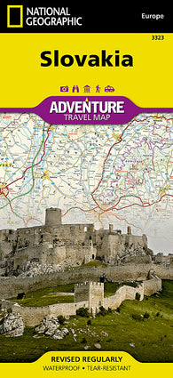 Buy map Slovakia Adventure Map 3323 by National Geographic Maps