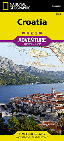 Buy map Croatia Adventure Map 3324 by National Geographic Maps