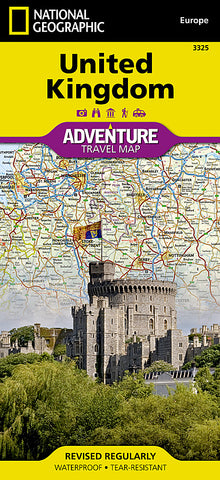 Buy map United Kingdom Adventure Map 3325 by National Geographic Maps