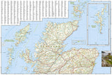 Scotland Adventure Map 3326 by National Geographic Maps - Back of map