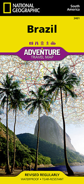 Buy map Brazil Adventure Map 3401 by National Geographic Maps