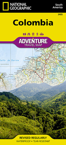Buy map Colombia Adventure Map 3405 by National Geographic Maps