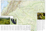 Colombia Adventure Map 3405 by National Geographic Maps - Back of map