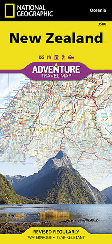 Buy map New Zealand Adventure Map 3500 by National Geographic Maps