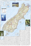 New Zealand Adventure Map 3500 by National Geographic Maps - Back of map