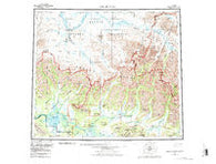 Ambler River Alaska Historical topographic map, 1:250000 scale, 1 X 3 Degree, Year 1956