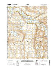 Ambler River D-4 NE Alaska Current topographic map, 1:25000 scale, 7.5 X 7.5 Minute, Year 2016 from Alaska Maps Store