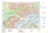 Anchorage Alaska Historical topographic map, 1:250000 scale, 1 X 3 Degree, Year 1962
