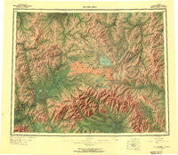 Bendeleben Alaska Historical topographic map, 1:250000 scale, 1 X 3 Degree, Year 1950