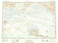 Bering Glacier Alaska Historical topographic map, 1:250000 scale, 1 X 3 Degree, Year 1950