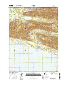 Bering Glacier A-4 SE Alaska Current topographic map, 1:25000 scale, 7.5 X 7.5 Minute, Year 2016