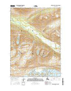 Bering Glacier D-7 NW Alaska Current topographic map, 1:25000 scale, 7.5 X 7.5 Minute, Year 2016 from Alaska Map Store