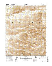 Bettles B-3 NE Alaska Current topographic map, 1:25000 scale, 7.5 X 7.5 Minute, Year 2016 from Alaska Maps Store
