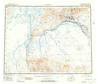 Fairbanks Alaska Historical topographic map, 1:250000 scale, 1 X 3 Degree, Year 1950