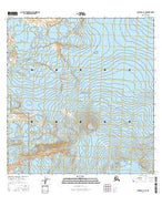 Gulkana A-1 SE Alaska Current topographic map, 1:25000 scale, 7.5 X 7.5 Minute, Year 2016 from Alaska Map Store