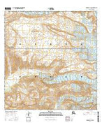 Gulkana A-1 SW Alaska Current topographic map, 1:25000 scale, 7.5 X 7.5 Minute, Year 2016 from Alaska Map Store