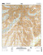 Gulkana A-2 SE Alaska Current topographic map, 1:25000 scale, 7.5 X 7.5 Minute, Year 2016 from Alaska Map Store