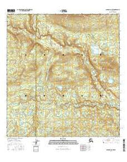 Gulkana C-5 NW Alaska Current topographic map, 1:25000 scale, 7.5 X 7.5 Minute, Year 2016 from Alaska Maps Store