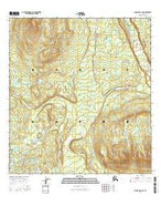 Gulkana D-2 SW Alaska Current topographic map, 1:25000 scale, 7.5 X 7.5 Minute, Year 2016 from Alaska Map Store