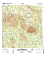 Gulkana D-3 SW Alaska Current topographic map, 1:25000 scale, 7.5 X 7.5 Minute, Year 2016 from Alaska Map Store