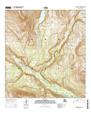 Gulkana D-4 NW Alaska Current topographic map, 1:25000 scale, 7.5 X 7.5 Minute, Year 2016 from Alaska Maps Store