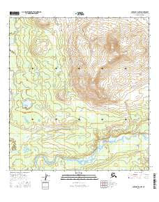 Gulkana D-6 NW Alaska Current topographic map, 1:25000 scale, 7.5 X 7.5 Minute, Year 2016