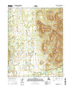 Hughes B-4 NE Alaska Current topographic map, 1:25000 scale, 7.5 X 7.5 Minute, Year 2016 from Alaska Map Store