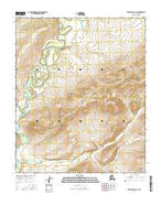 Melozitna B-4 SE Alaska Current topographic map, 1:25000 scale, 7.5 X 7.5 Minute, Year 2016 from Alaska Map Store