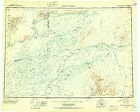 Russian Mission Alaska Historical topographic map, 1:250000 scale, 1 X 3 Degree, Year 1950
