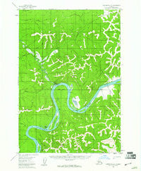 Sleetmute D-6 Alaska Historical topographic map, 1:63360 scale, 15 X 15 Minute, Year 1954