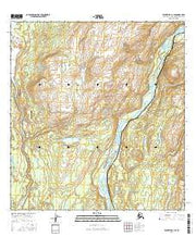 Talkeetna C-1 SE Alaska Current topographic map, 1:25000 scale, 7.5 X 7.5 Minute, Year 2016 from Alaska Maps Store