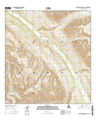 Talkeetna Mountains B-4 NE Alaska Current topographic map, 1:25000 scale, 7.5 X 7.5 Minute, Year 2016
