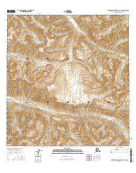 Talkeetna Mountains B-4 SW Alaska Current topographic map, 1:25000 scale, 7.5 X 7.5 Minute, Year 2016