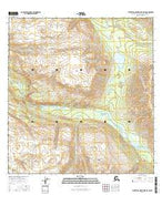 Talkeetna Mountains B-5 SW Alaska Current topographic map, 1:25000 scale, 7.5 X 7.5 Minute, Year 2016 from Alaska Map Store